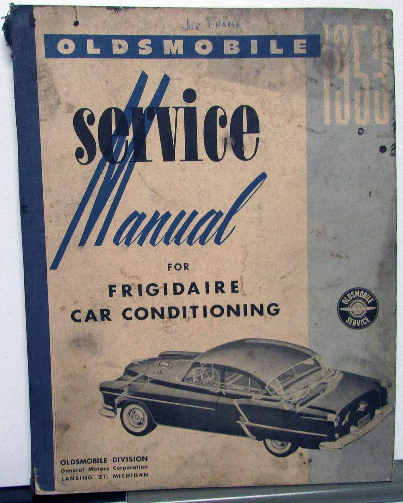 1953 Oldsmobile Service Shop Manual A/C Frigidaire Car Air Conditioning  Repair