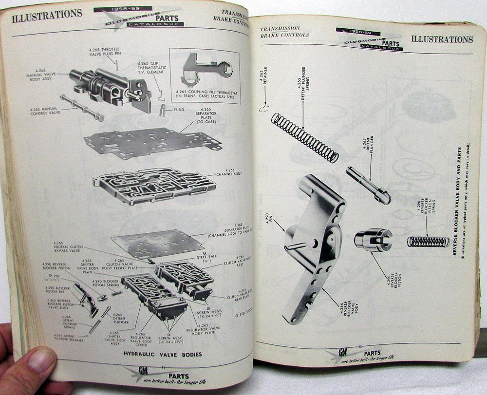 1958 1959 oldsmobile canadian dealer parts book catalog gm of canada rh autopaper com GM Parts Diagrams Exploded Views 94 Chevy 1500 Parts Diagram