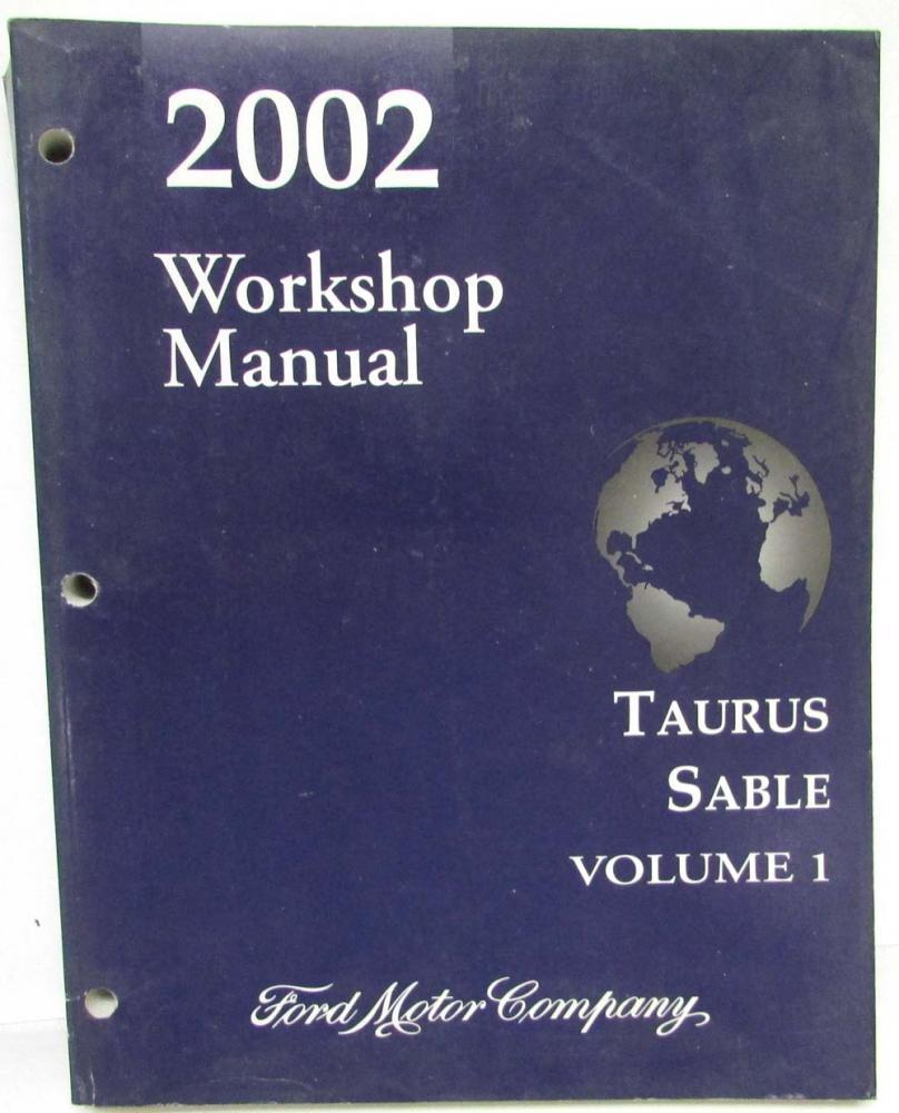 2002 Ford Taurus Mercury Sable Service Shop Repair Manual Set Vol 1 & 2