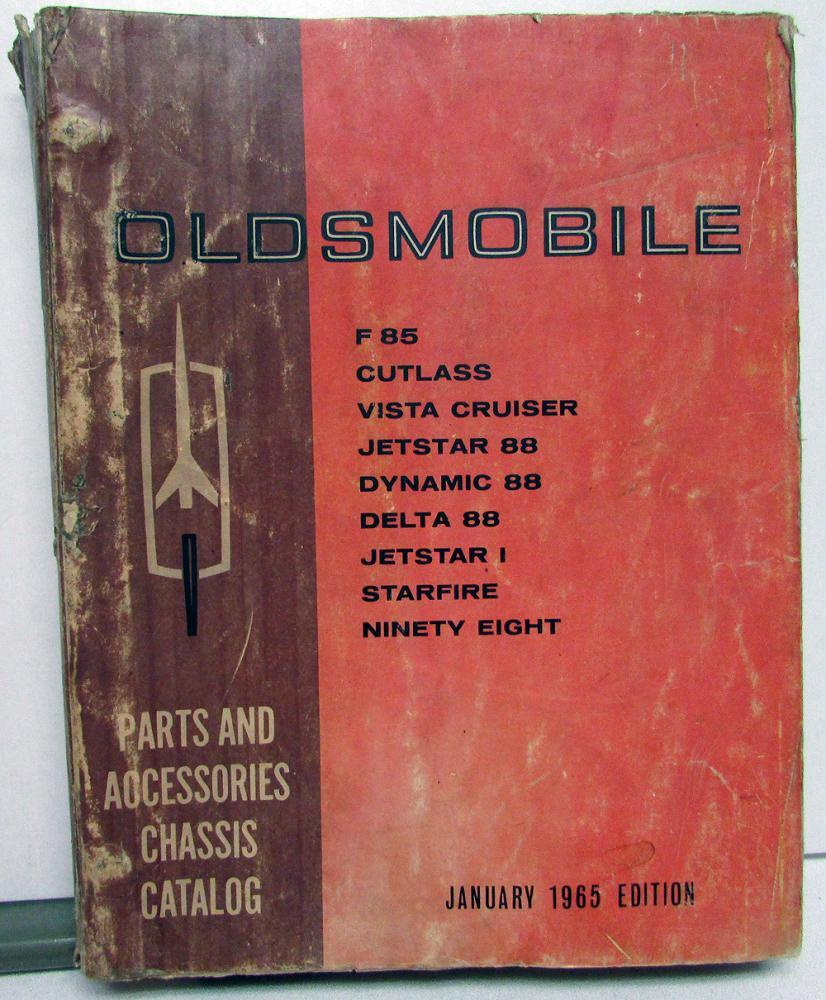 1964 Oldsmobile Chassis Parts Book Catalog F85 Cutlass Vista