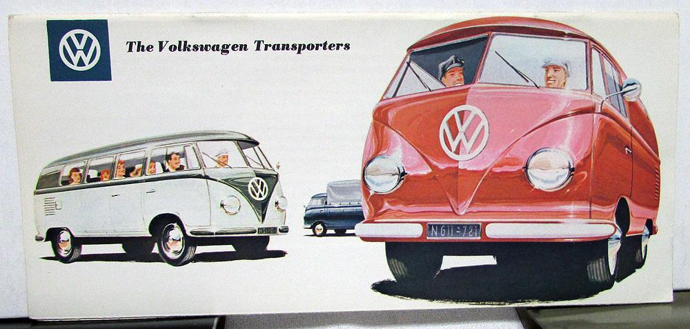 1958-59 Volkswagen Sales Brochure Transporters Pickup Kombi