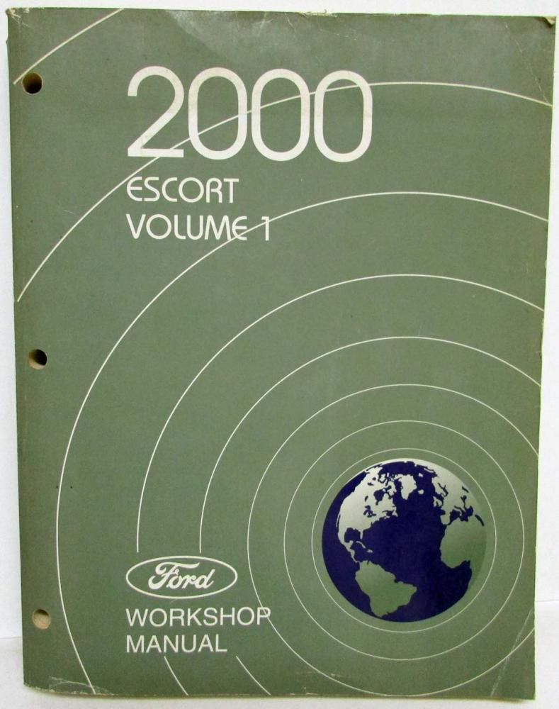 2000 Ford Escort Service Workshop Service Repair Manual Set Vol 1 & 2  Original