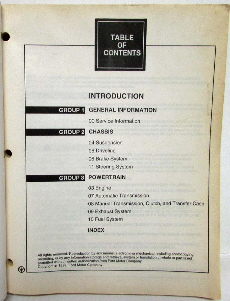 Ford escort manual service free 2001