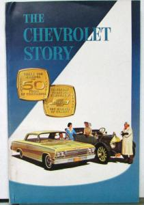 1962 Chevrolet Story From 1912 To 1922 Promotional Sales Brochure Original