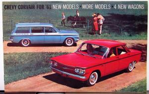 1961 Chevrolet Corvair 500 700 Coupes Monza Lakewood Greenbrier Sales Brochure