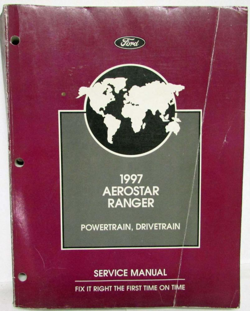 1997 Ford Aerostar Van Ranger Pickup Service Shop Repair Manual 2 Vol Set