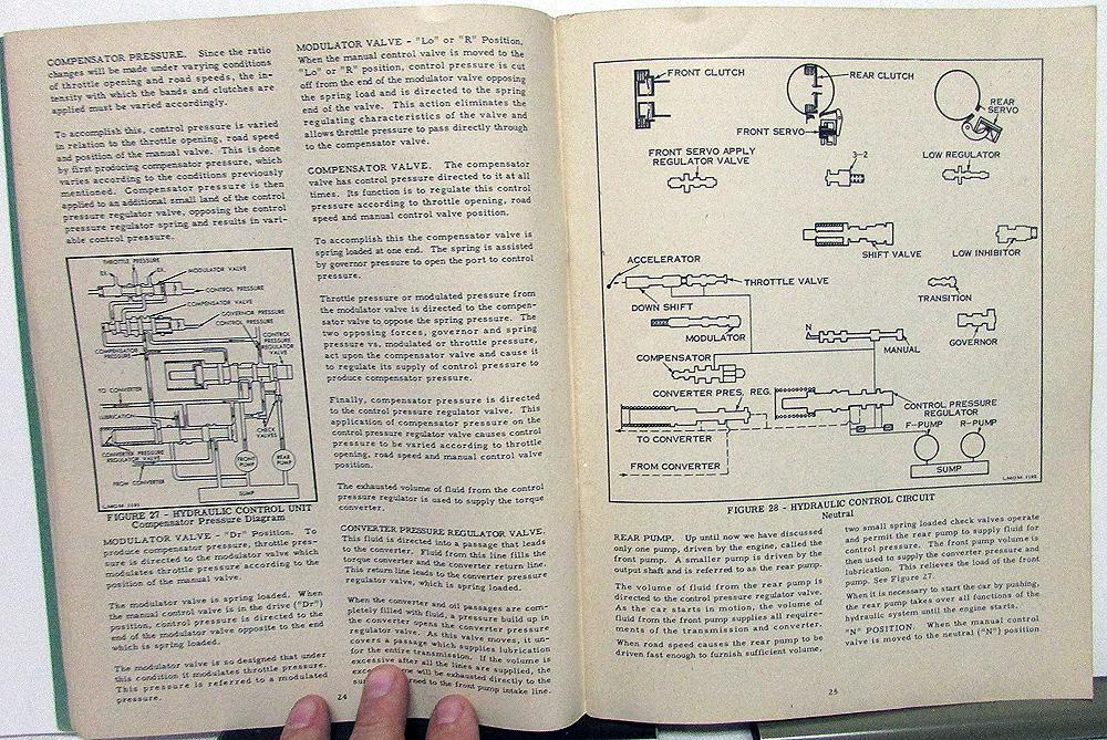 1951 lincoln mercury dealer service shop manual merc-o-matic transmission