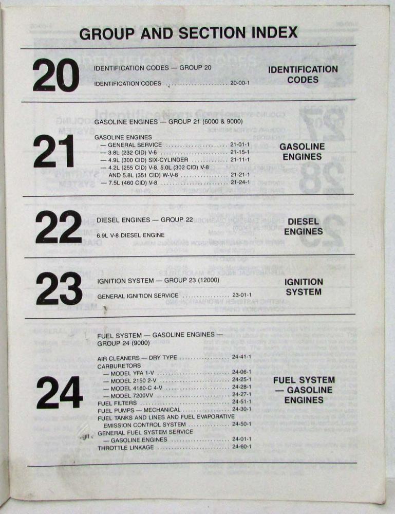 1983 Ford Lt Truck E & F-100 thru 350 and Bronco Service Shop Manual 2