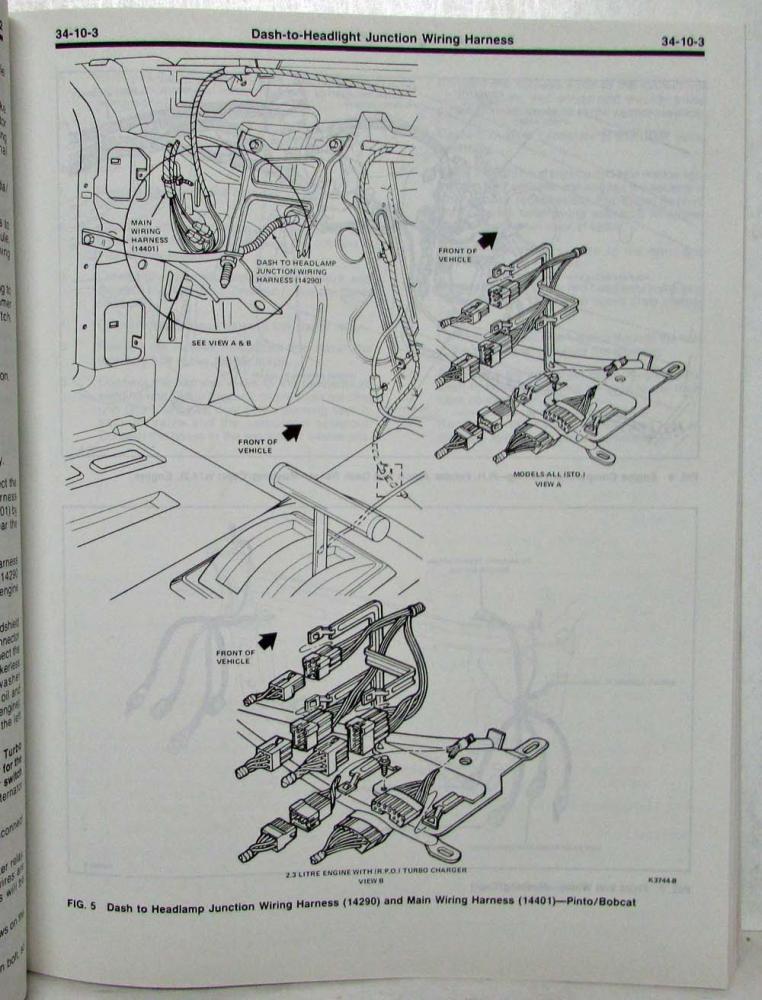 1980 ford lincoln mercury service shop manual 3 vol set mustang capri  versailles