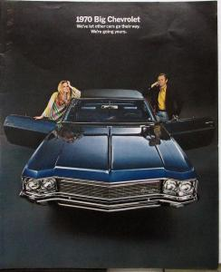 1970 BIG Chevrolets Caprice Impala Bel Air Color Sales Brochure Original