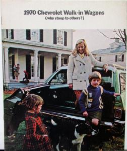 1970 Chevrolet Wagons Kingswood Townsman Brookwood Concours Nomad Sales Brochure