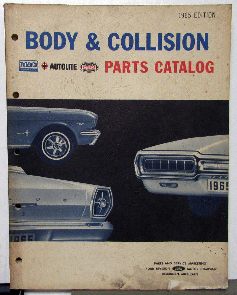 1961 1965 Ford Car Truck Body Collision Parts Catalog Mustang T Bird 1967 Econoline Pickup