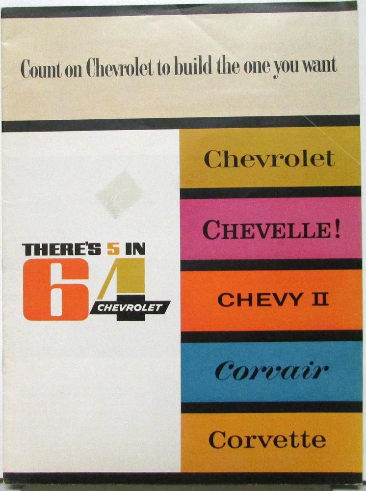 1964 Chevrolet Corvette Sales Brochure