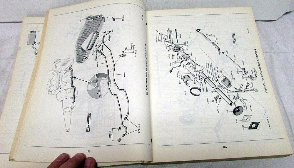 1960-1962 Lincoln Dealer Master Chassis & Body Parts Catalog Book  ContinentalTroxel's Auto Literature