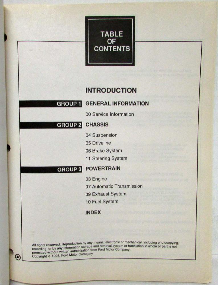 1999 mercury villager repair manual free