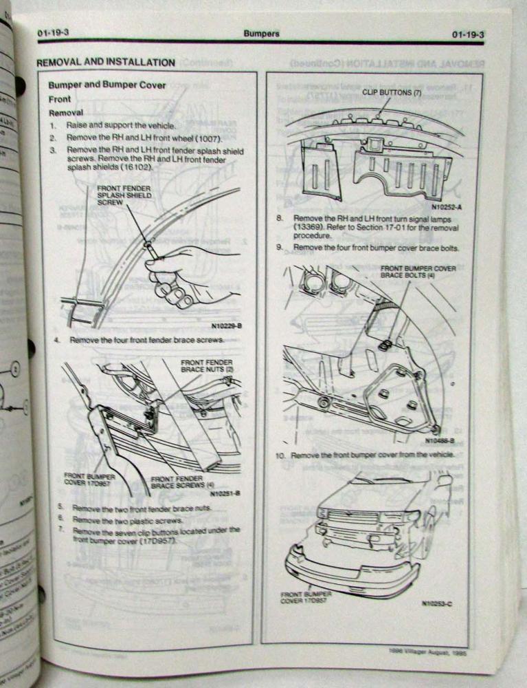 96 Mercury Villager Engine Diagram - Wiring Diagram Networks