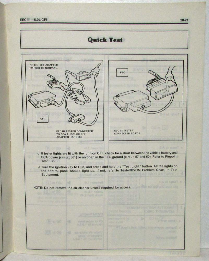 1984 Ford Cars & Light Truck EEC-III Tester Manual - Engine ...  Cfi Mustang Wiring Diagram on 2006 mustang wiring diagram, 1984 mustang wiring harness, 1985 mustang wiring diagram, 2005 mustang wiring diagram, 1994 mustang wiring diagram, 1984 mustang exhaust diagram, 1996 mustang wiring diagram, 1998 mustang wiring diagram, 1987 mustang wiring diagram, 1980 mustang wiring diagram, 1973 charger wiring diagram, 1995 mustang wiring diagram, 1977 mustang wiring diagram, 2003 mustang wiring diagram, 1964 mustang wiring diagram, 1984 mustang air conditioning diagram, 1967 charger wiring diagram, 1986 mustang wiring diagram, ford mustang wiring diagram, 1988 mustang wiring diagram,