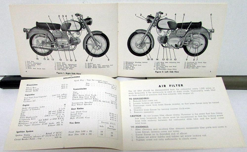 1962 Harley Davidson Motorcycle Sprint Riders Hand Book