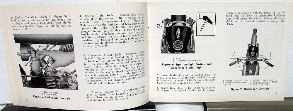 1962 Harley Davidson Motorcycle Sprint Riders Hand Book Owners