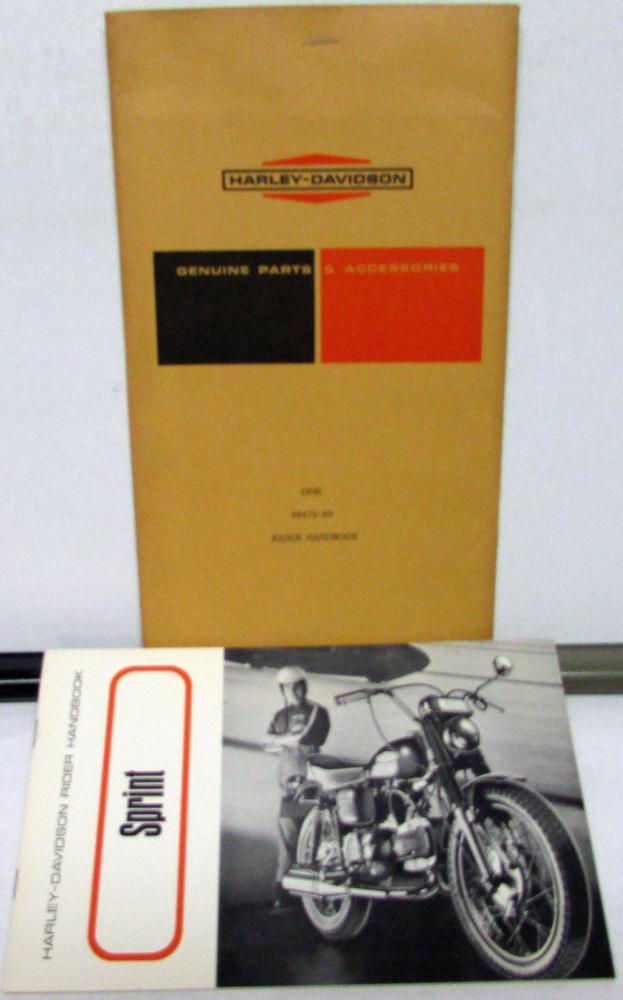 1969 Harley Davidson Motorcycle Sprint SS Riders Hand Book
