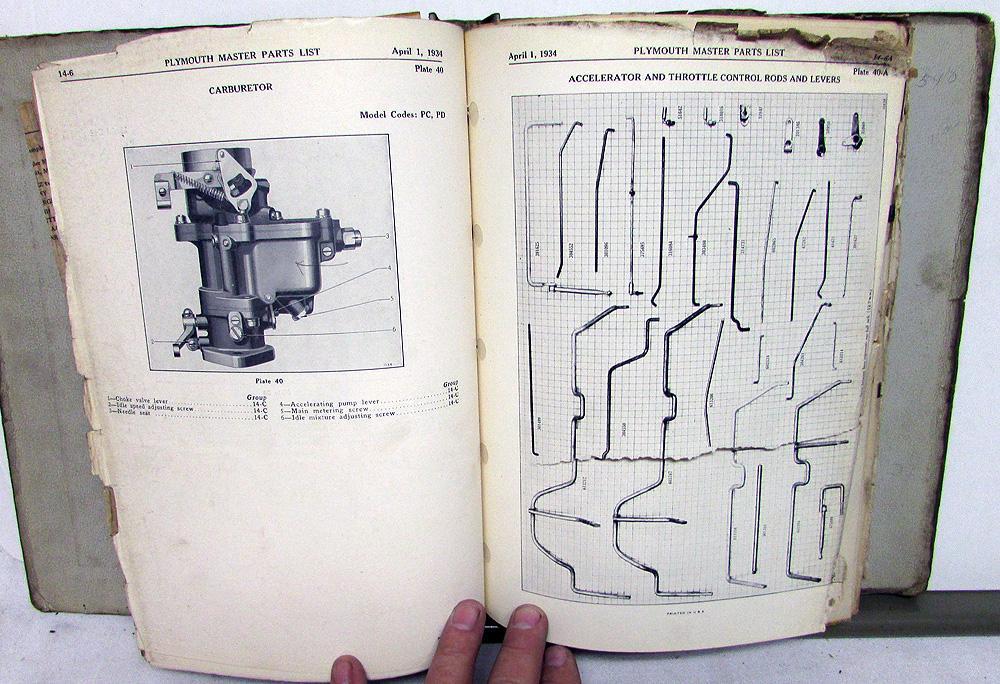 Car Parts Book