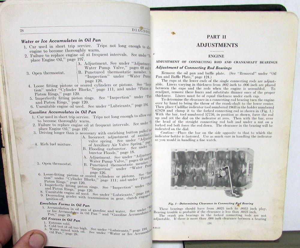 1922 1923 Cadillac Repair Shop Manual Type 61 Service Book