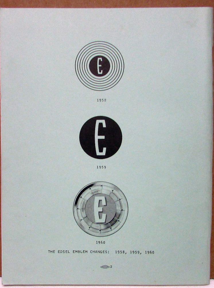 1958 59 60 edsel owners manuals reproduced by international edsel club rh autopaper com User Manual Operators Manual