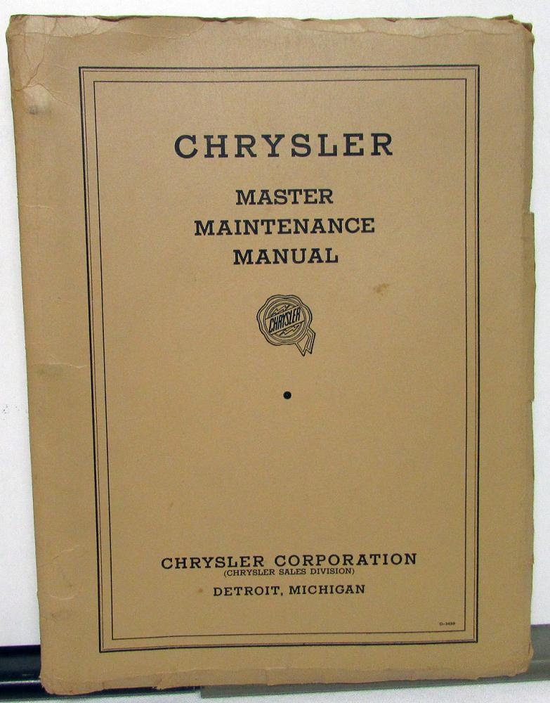 1934 1935 1936 chrysler maintenance service shop manual 6 8 rh autopaper com I&T Shop Manuals Shop Manual Online