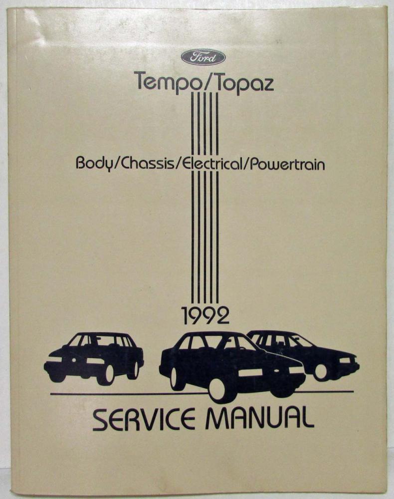 1992 Ford Tempo Mercury Topaz Service Shop Repair Manual Wiring Diagram