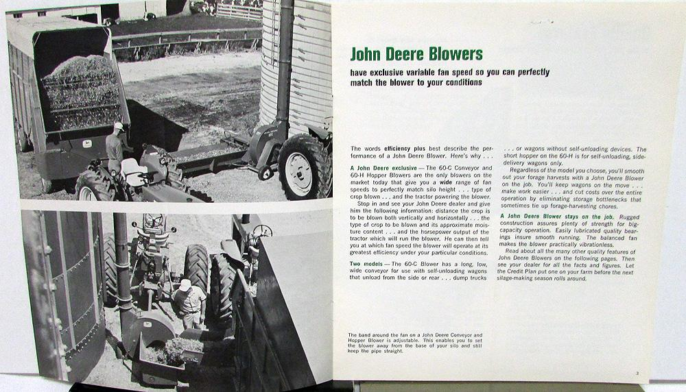 1995 1996 JOHN DEERE 6000 SERIES 66-85 HP TRACTORS SALES BROCHURE CATALOG