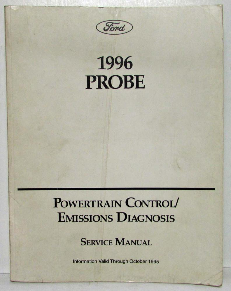 1996 Ford Probe Powertrain Control Emissions Diagnosis Service Manual Wiring Diagram