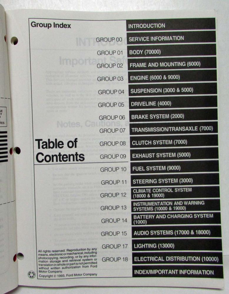 ford capri 1989 1994 workshop service manual