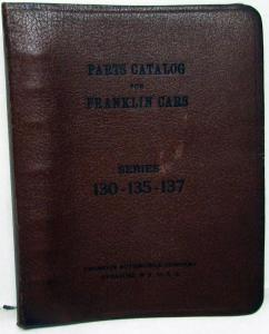 1929-1931 Franklin Series 130 135 137 Dealer Parts Catalog Book Repair Orig