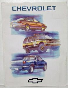 1996 Chevrolet Press Kit Concept POLICE Package Tahoe - Malibu - S-Series Pickup