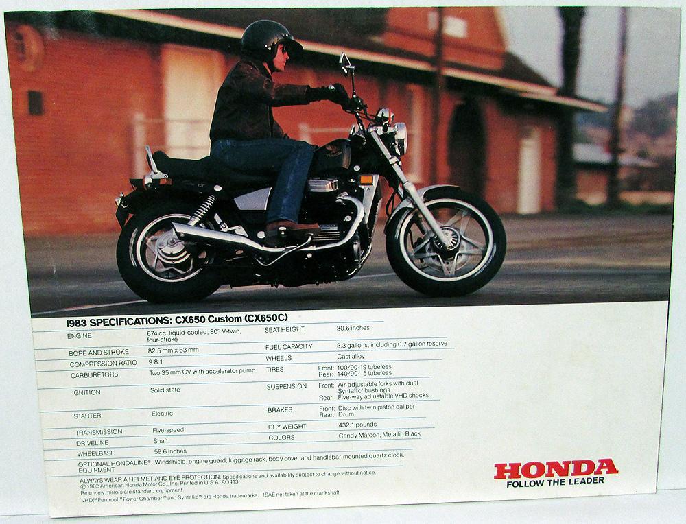 1983 Honda CX650 Custom Motorcycle Bike Dealer Sales