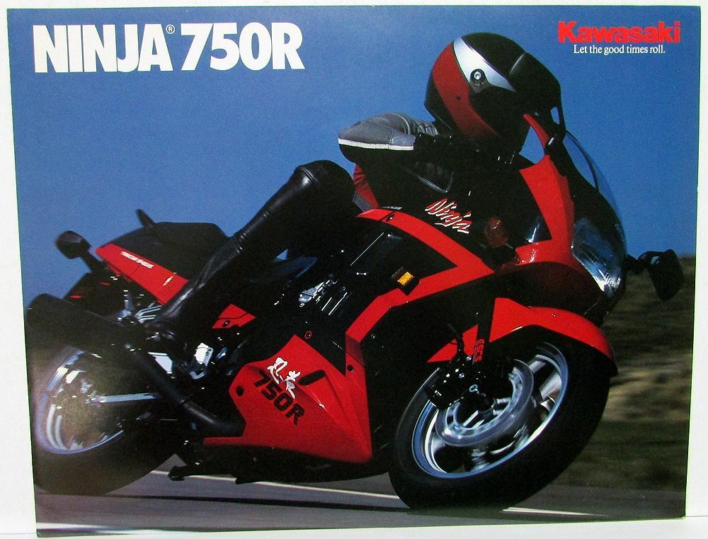 1989 Kawasaki Ninja 750r Motorcycle Dealer Sales Brochure Zx750 F3 Specs