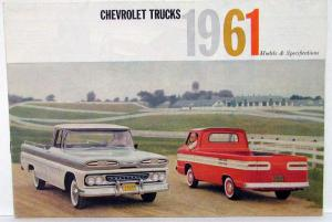 1961 Chevrolet Truck Full Line Models & Specs Sales Folder FOREIGN MARKET