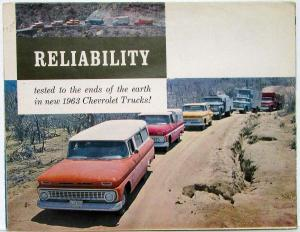 1963 Chevrolet Truck Full Line Reliability Tested Color Sales Folder R-1 REVISED