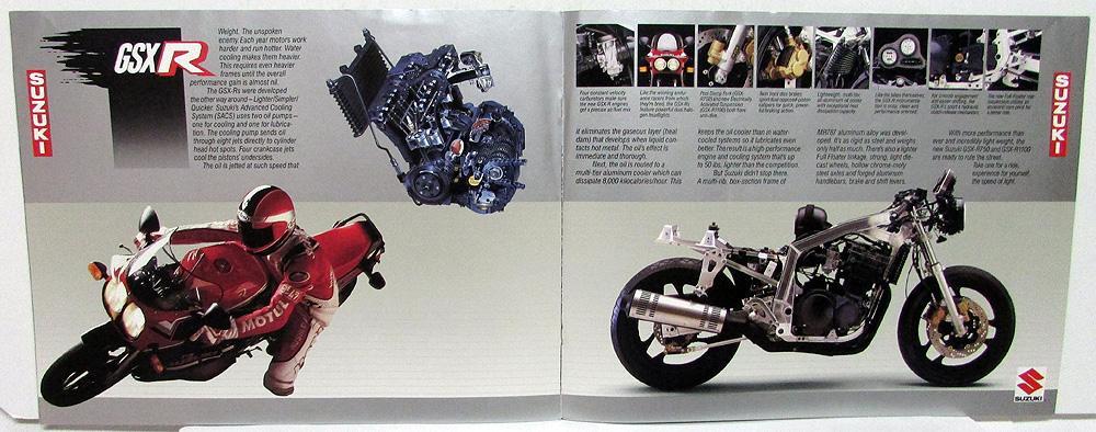 1986 Suzuki GSX R Motorcycle Dealer Sales Brochure 750G