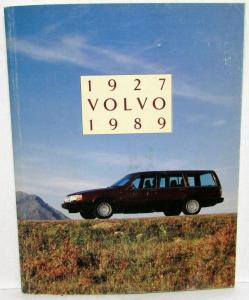 Volvo Cars 1927-1989 Historical Booklet Foreign Dealer Brochure Swedish Text