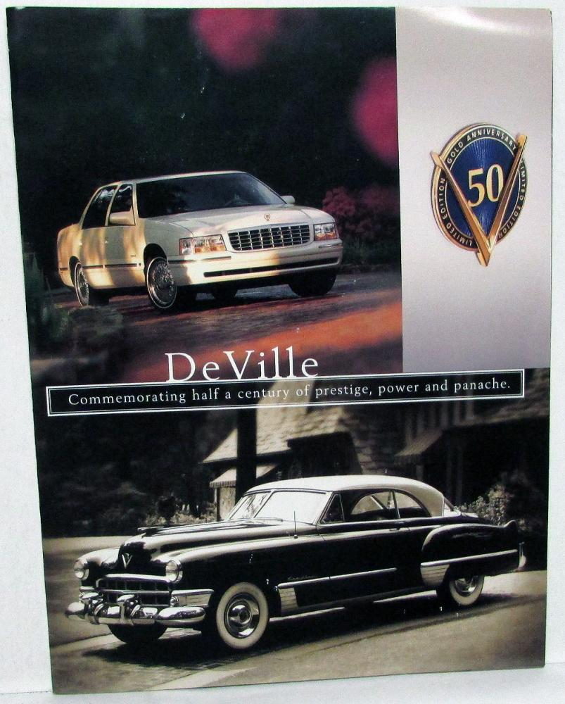 Cadillac Dealership: 1999 Cadillac Dealer Sales Brochure DeVille 50th Anniversary Glossy Folder