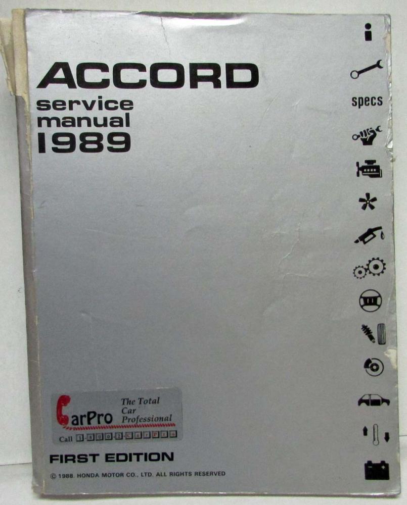 1989 honda accord service shop repair manual rh autopaper com 1989 Honda Accord Coupe 1989 honda accord service manual pdf