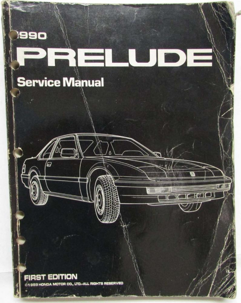 1990 honda prelude service shop repair manual rh autopaper com 1993 Honda Prelude 1991 Honda Prelude