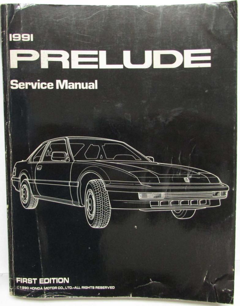 1991 honda prelude service shop repair manual rh autopaper com 1990 Honda Prelude 1991 honda prelude owners manual