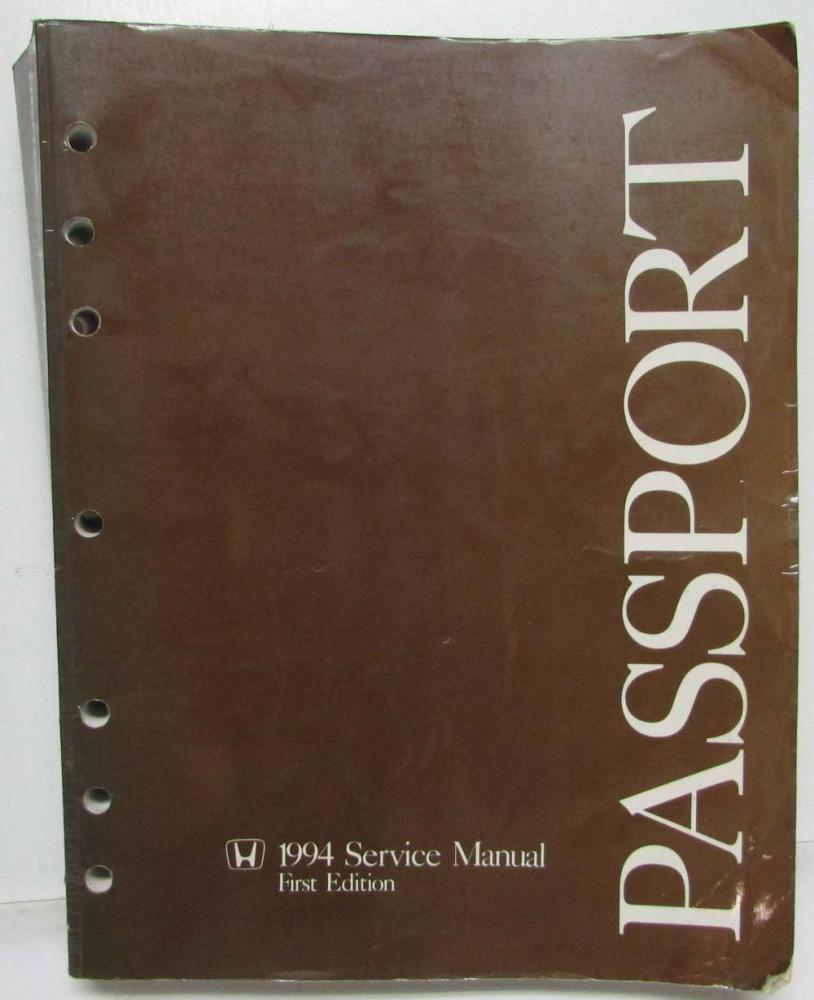 1994 honda passport service shop repair manual isuzu rodeo rh autopaper com 2018 Honda Passport 2001 honda passport service manual