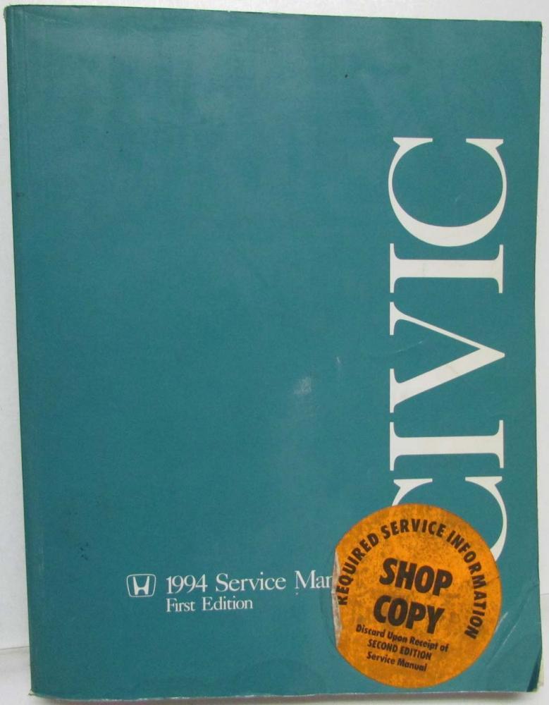 1994 honda civic service shop repair manual rh autopaper com 94 honda civic repair manual free pdf 1994 honda civic repair manual pdf