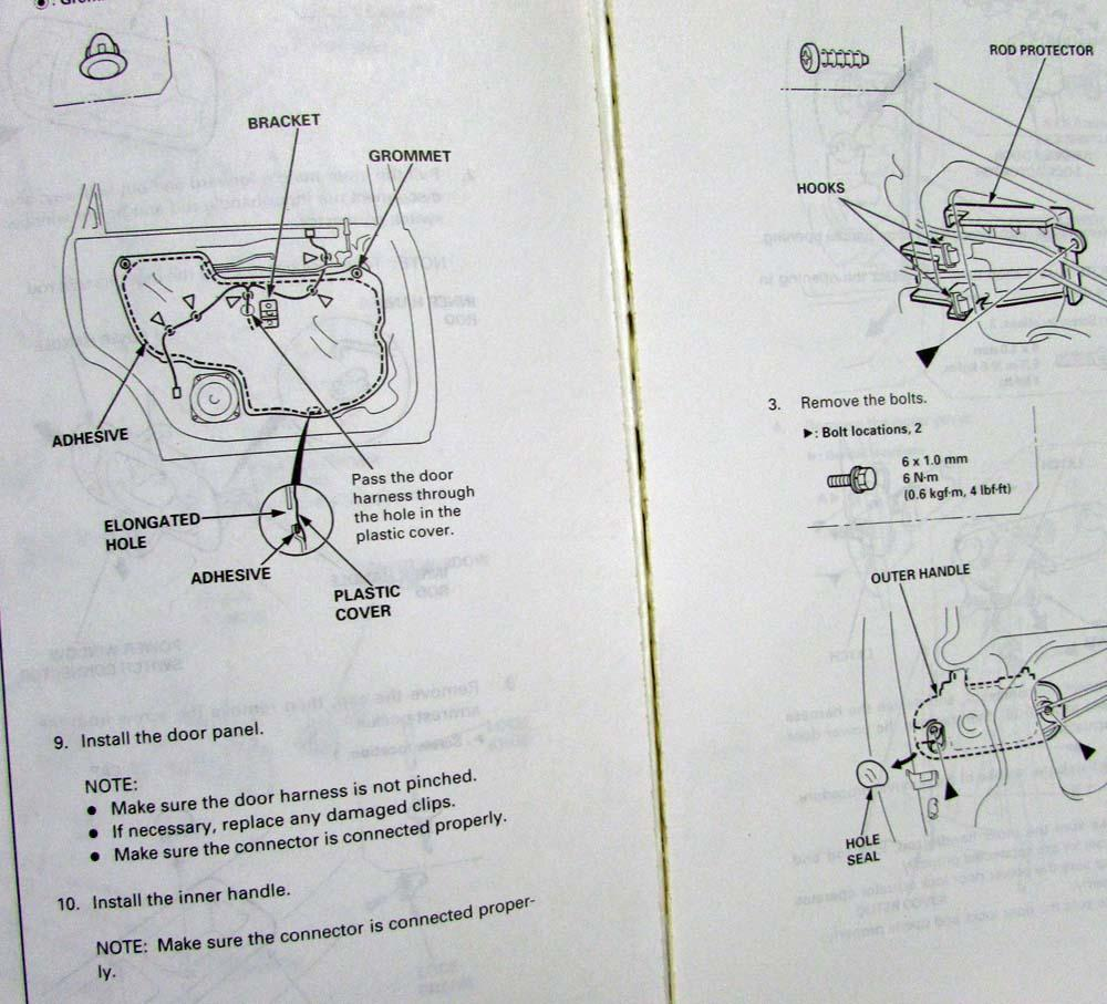 1995 Honda Odyssey Service Shop Repair Manual Suspension Diagram