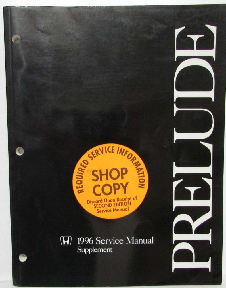 1996 honda prelude service shop repair manual supplement rh autopaper com 1995 Honda Prelude 1997 Honda Prelude