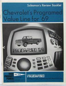 1969 Chevrolet Truck Salesmans Presentation Review Booklet Original