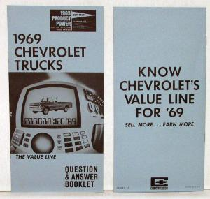 1969 Chevy Truck Salesmans Q&A Light Med Heavy Duty Chevy Van P Series Booklet